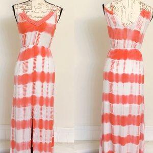 Flying Tomato Pink & White Tie Dye Maxi Dress